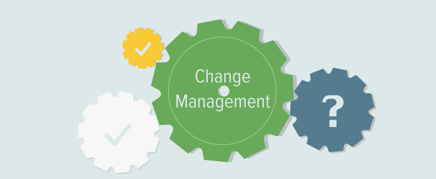 Change management cog wheels